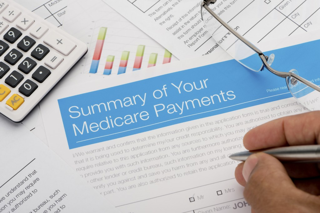 Medicare payments summary with paperwork